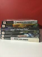 Lot of 7 Racing Games NASCAR NEED FOR SPEED Playstation 2 PS2 2005 - Very Good