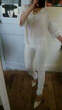 Chemisier blanc Zara avec dentelle taille S