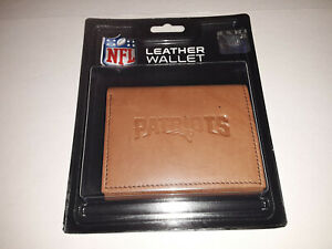 New England Patriots Embossed  Leather Tri-Fold Men's Wallet By Rico