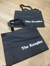 2 X The kooples textile Fabric Gift Carrier Shopping Bag 36.9 x 29 x 11.2 cm