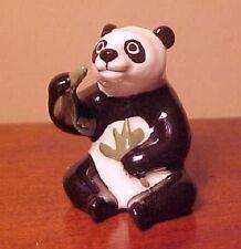 Hagen-Renaker Miniature #2017 Papa Panda Eating Bamboo - Ceramic Figurine
