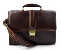 f7486c8ce0 Cartella pelle borsa ufficio uomo donna valigetta 24 ore borsa pelle marrone