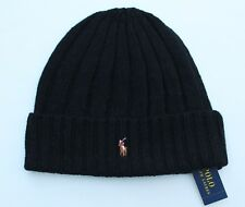 Polo Ralph Lauren Men s Beanie Skull Cap Pony Player Hat Black 1 Size 6dbf9eb03