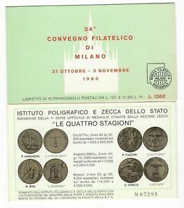 S33482 Italy 1980 Booklet Youfra Bag Philatelic Forlanini ( L.120 + L.10 x 10)