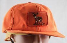 Vintage Retro Orange Buck Hat Deer Hunter Hunting Extra Large  USA Made