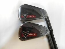 New Callaway RAZR X Black 2-Piece Iron Set 5-6 Graphite Regular Irons 5.6 irons