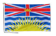 More details for british columbia canada flag with rope and toggle - various sizes