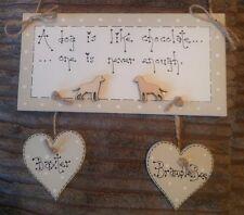 shabby chic dogs bespoke pet keepsake plaque sign gift Laura Ashley paint