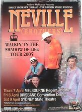 """NEVILLE BROTHERS """"WALKIN' IN THE SHADOW OF LIFE TOUR"""" 2005 AUSTRALIA TOUR POSTER"""