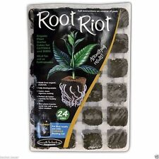 ROOT RIOT ORGANIC PLANT STARTER CUBES CUTTINGS / SEEDS 24 x 36mm
