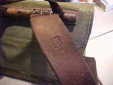 VINTAGE  BACKPACK.SWISS ARMY MILITARY  CANVAS & LEATHER   BACKPACK