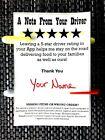 100pcs * DoorDash Postmates UberEats GrubHub * 5-Star Rating Sticker Labels
