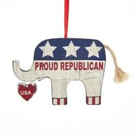 Proud Republican Elephant Ornament Hanging Tree Christmas X-Mas Holiday USA Gift