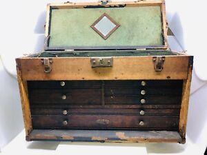 Vintage Gerstner & Sons Machinist Tool Chest Box 7 DRAWER 20 X 12 1/5 X 8 1/2