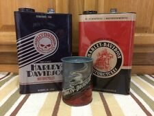 Harley-Davidson Motorcycles Motor Oil Can Metal Bike Helmet Oil Vintage Style 3