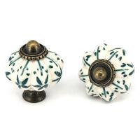 4/10x Ceramic Cabinet Knobs Cupboard Closet Drawer furniture Handles Pulls