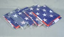 LOT of 5 USA AMERICAN FLAGS 4 x 6 POLE MOUNT SLEEVES POLYESTER w/out GROMMETS