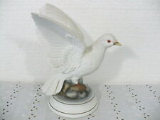 "Andrea by Sadek of Japan 8-3/4"" ""White Dove"" Sculpture w/ spreading wings"