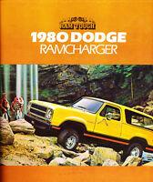 1980 Dodge Ramcharger Original Car Dealer Sales Brochure Catalog