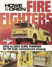 Fire Equipment Brochure - Howe & Oren - 500-1250 GPM Pumpers for Tilt Cab (DB20)