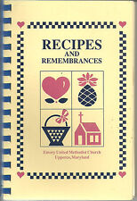 UPPERCO MD 1989 ETHNIC * EMORY METHODIST CHURCH COOK BOOK RECIPES & REMEMBRANCES