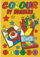 COLOUR BY NUMBERS BOOK 1 A4 SIZE 40 PAGES TO COLOUR BY NUMBERS A REAL BARGAIN