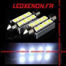 KIT 2 AMPOULE LED NAVETTE C5W 8 SMD XENON PLAQUE IMMATRICULATION ANTI ERREUR ODB