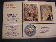 1973 HUTT COOK ISLAND UNCIRCULATED PNC 92 R 0615 RAROTONGA CORONATION OF HMQ II