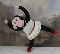 PRINTED INSTRUCTIONS-PRIMA PRIMATE BALLERINA TOY MONKEY ANIMAL KNITTING PATTERN