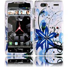 For Motorola DROID RAZR MAXX HARD Protector Case Snap On Phone Cover Blue Splash