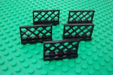 Lego Black Fence (city, town, garden, house, fences, friends)