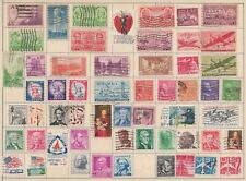 (U48-88) 1934-60s USA mix of 53stamps 1c to 25 (CM)