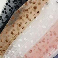 Summer Women's Polka Dot Transparent Tulle Thin Breathable Middle Tube Socks Hot