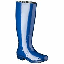 Women's Classic Knee High Rain Boots  - Marine Blue - Size 10 - New