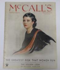 McCall's Nov 1933 Neysa McMein Cover