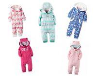 Carter's Baby Girls 1 Piece Fleece Jumper Jumpsuit - NEW/NWT