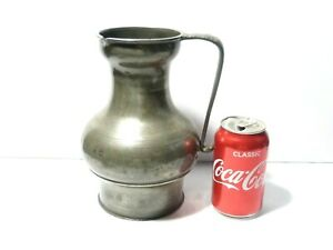 1920's Large Pewter Jug Side Pouring Lip Ex Lord Boston Estate Richard Neate