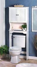 NANTUCKET BATHROOM SPACE SAVER ** Over the Toilet Cabinet & Shelf ** NIB