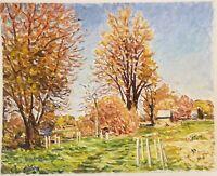 "American Impressionist Landscape Oil Painting on Board Unframed Art(24"" x 30"")"