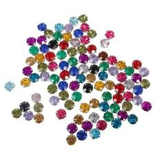 100x Colorful Rhinestone Loose Faceted Beads Embellishment Sew On Craft 10mm