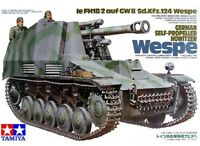 Tamiya 35200 1/35 Scale Model Kit German Self-Propelled Howitzer Wespe SdKfz.124