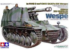 Tamiya 35200 1/35 Scale Military Model Kit German Self-Propelled Howitzer Wespe