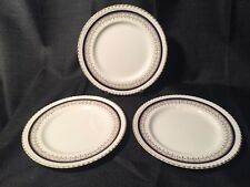 Johnson Brothers JB83 Salad Plates - Cobalt & Gold - Set of 3 - Windsor Ware