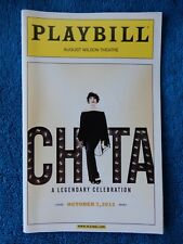 Chita: A Legendary Celebration - Wilson Playbill w/Ticket - October 7th, 2013