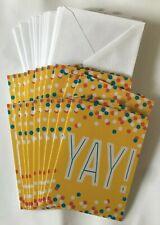 Hallmark Blank Notecards ~ YAY Confetti ~ Pack of 20 w/ Envelopes