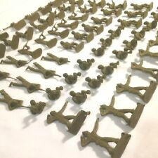 U.S. Toy Soldier LOT of (74) vintage 1960's plastic olive green 1 to 2 inch