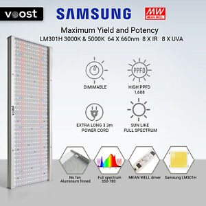Voost - 2000W Samsung LM301H Full Spectrum LED Grow Light Meanwell replace 600W