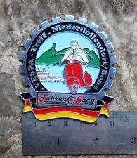 VESPA VINTAGE PLAQUE Plakette PLACCA BADGE Deutsch GS 150 160 SS 90 180 for SALE