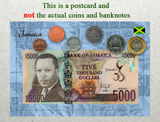 Postcard: Jamaica Circulating Coins and Currency (Banknote) 2013