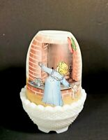 "◇Fenton Fairy Lamp/Light ""Anticipation"" ~ child looking up chimney~Christmas~HP"